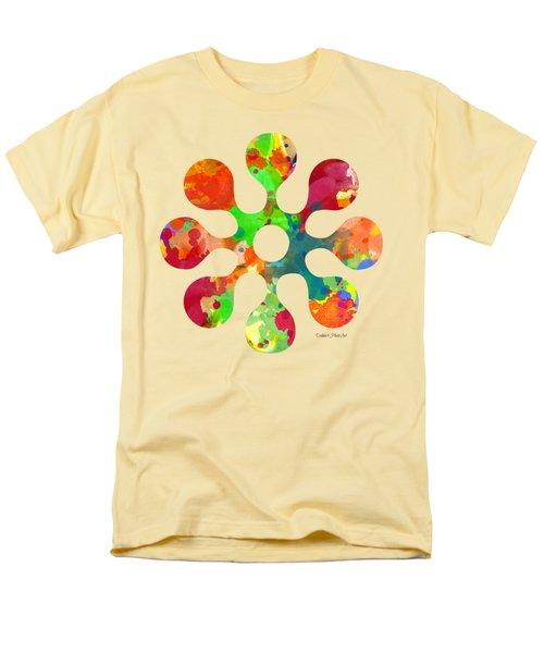 Flower Power 4 - Tee Shirt Design Men's T-Shirt  (Regular Fit) by Debbie Portwood