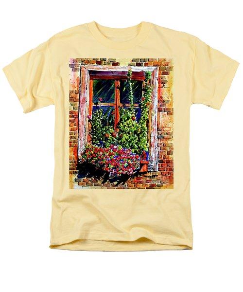 Flower Window Men's T-Shirt  (Regular Fit) by Terry Banderas