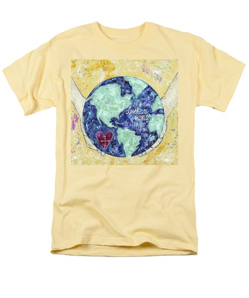 For He So Loved The World Men's T-Shirt  (Regular Fit) by Kirsten Reed