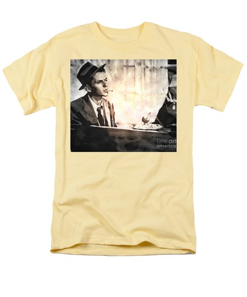 Frank Sinatra - Vintage Painting Men's T-Shirt  (Regular Fit) by Ian Gledhill