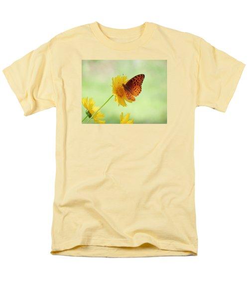 Fritillary Fun Men's T-Shirt  (Regular Fit) by MTBobbins Photography