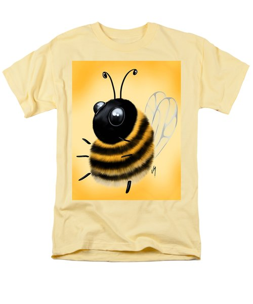 Men's T-Shirt  (Regular Fit) featuring the painting Funny Bee by Veronica Minozzi