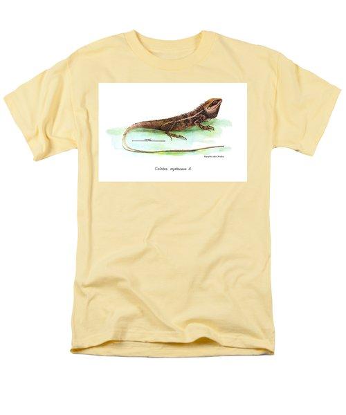 Men's T-Shirt  (Regular Fit) featuring the drawing Garden Lizard by Nguyen van Xuan