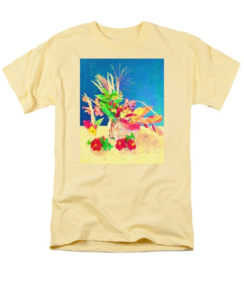 Gifts From The Yard Watercolor Men's T-Shirt  (Regular Fit) by Christina Lihani