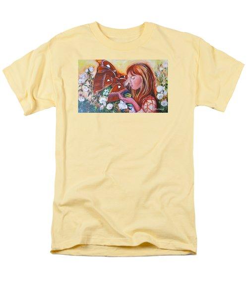 Girl With Butterflies Men's T-Shirt  (Regular Fit) by Rita Fetisov