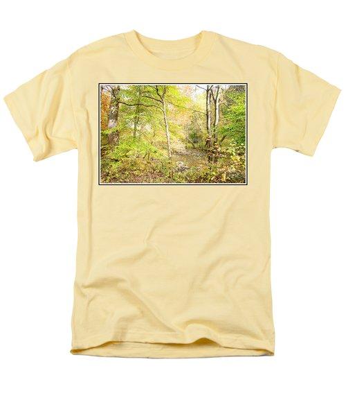 Glimpse Of A Stream In Autumn Men's T-Shirt  (Regular Fit) by A Gurmankin