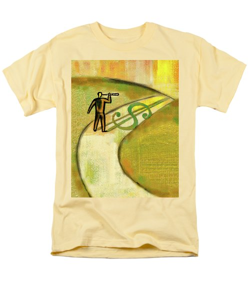 Men's T-Shirt  (Regular Fit) featuring the painting Goal by Leon Zernitsky