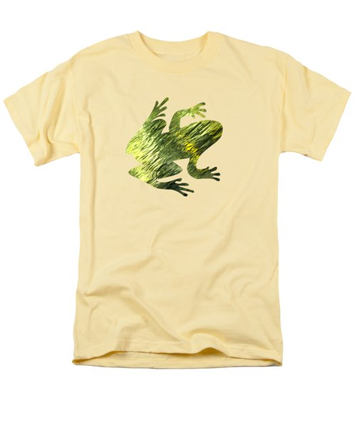 Green Abstract Water Reflection Men's T-Shirt  (Regular Fit) by Christina Rollo