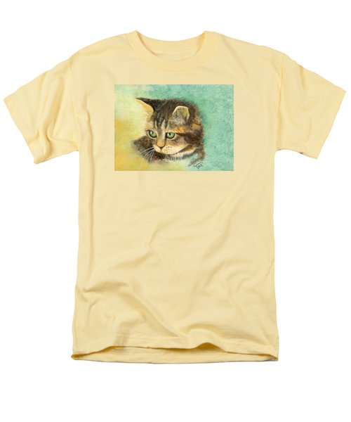 Men's T-Shirt  (Regular Fit) featuring the painting Green Eyes by Terry Webb Harshman