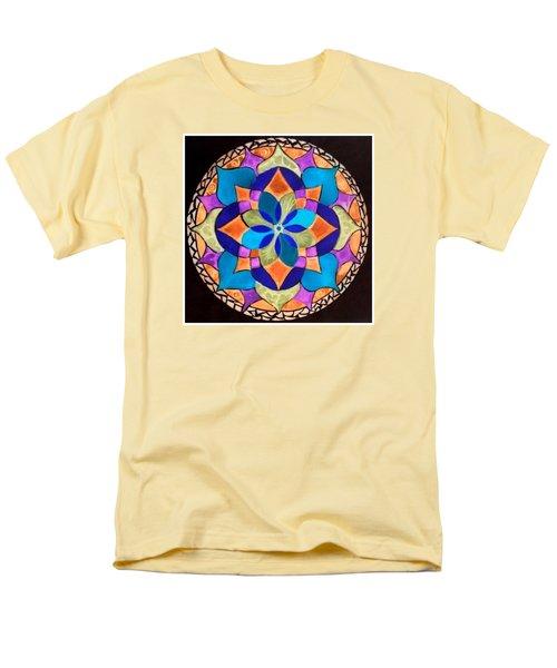 Happy Mandala  Men's T-Shirt  (Regular Fit) by Sandra Lira