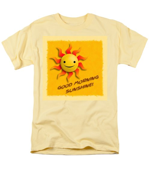Happy Sun Face Men's T-Shirt  (Regular Fit) by John Wills