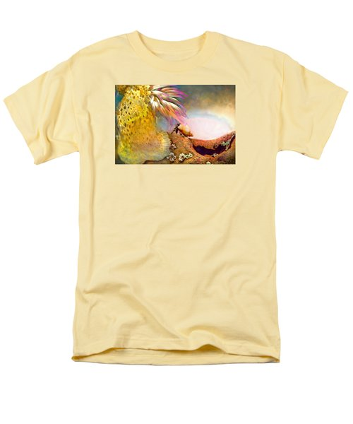 Men's T-Shirt  (Regular Fit) featuring the photograph Hermit Crab Landscape by Adria Trail