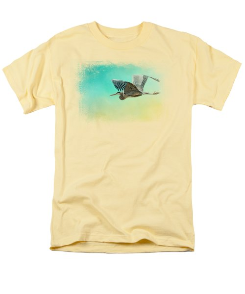 Heron At Sea Men's T-Shirt  (Regular Fit) by Jai Johnson