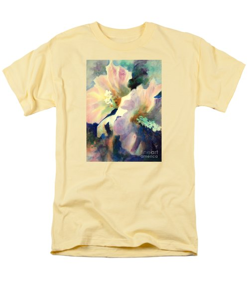 Men's T-Shirt  (Regular Fit) featuring the painting Hibicus Up Close by Kathy Braud