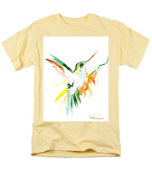 Hummingbird Green Orange Red Men's T-Shirt  (Regular Fit) by Suren Nersisyan