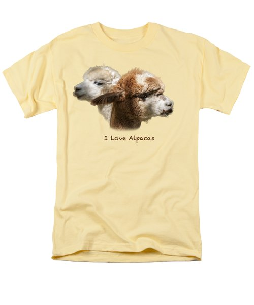 I Love Alpacas Men's T-Shirt  (Regular Fit) by George Robinson