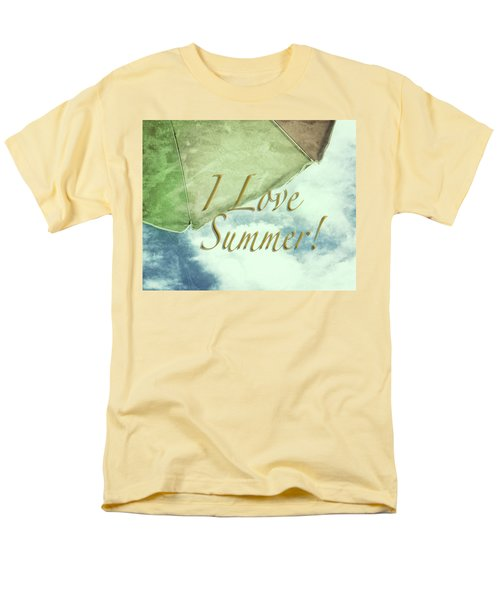 Men's T-Shirt  (Regular Fit) featuring the photograph I Love Summer I by Marianne Campolongo