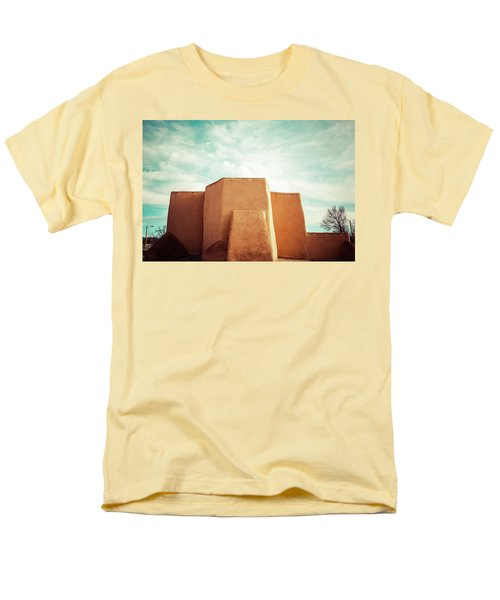 Men's T-Shirt  (Regular Fit) featuring the photograph Iconic Church In Taos by Marilyn Hunt