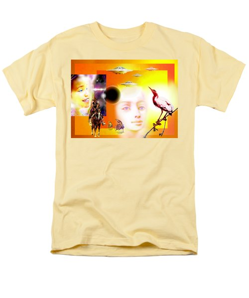 Illusion  Of Reality Men's T-Shirt  (Regular Fit) by Hartmut Jager