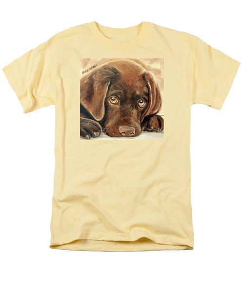 I'm Sorry - Chocolate Lab Puppy Men's T-Shirt  (Regular Fit) by Julie Brugh Riffey