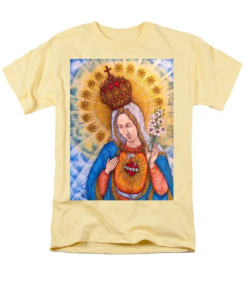 Immaculate Heart Of Virgin Mary Men's T-Shirt  (Regular Fit) by Kent Chua