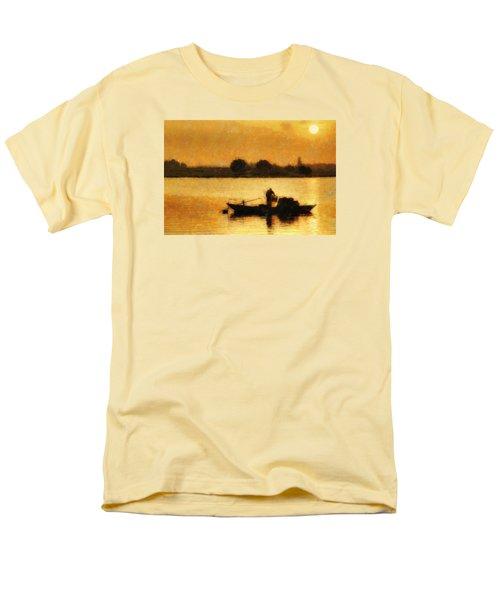 Men's T-Shirt  (Regular Fit) featuring the digital art Impressionist Dawn by Cameron Wood