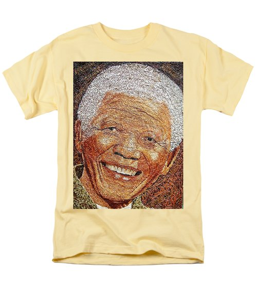 Nelson Mandela - In The Pyramid Of Our Minds Men's T-Shirt  (Regular Fit) by Bankole Abe