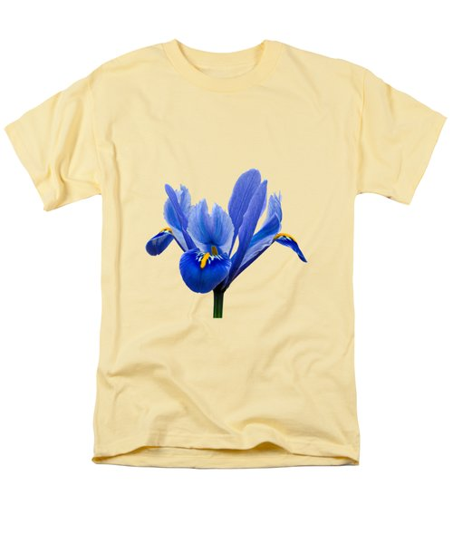 Iris Recticulata Transparent Background Men's T-Shirt  (Regular Fit) by Paul Gulliver