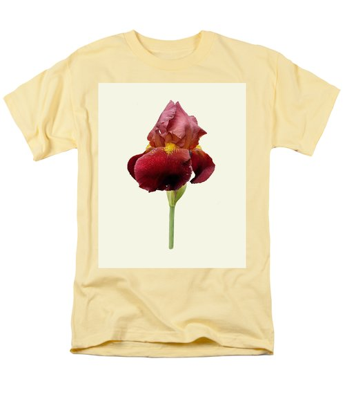 Iris Vitafire Cream Background Men's T-Shirt  (Regular Fit) by Paul Gulliver