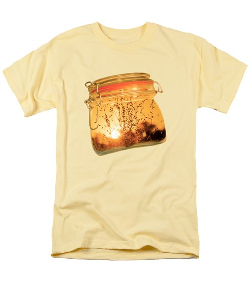 Men's T-Shirt  (Regular Fit) featuring the photograph Jar Full Of Sunshine by Linda Lees
