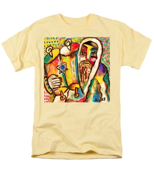 Jewish Celebrations Rejoicing In The Torah Men's T-Shirt  (Regular Fit) by Sandra Silberzweig
