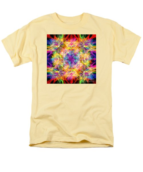 Men's T-Shirt  (Regular Fit) featuring the photograph Kaleidos Quad Spiral Les Fleurs by Jack Torcello