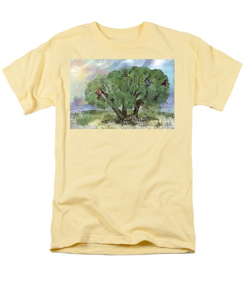 Men's T-Shirt  (Regular Fit) featuring the painting Kite Eating Tree by Annette Berglund