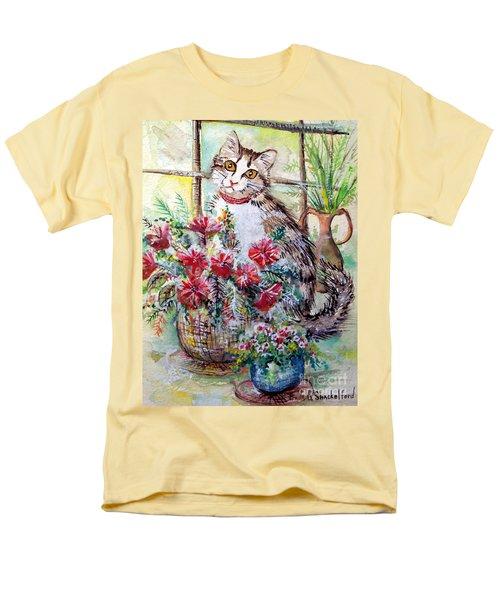 Kitty In The Window Men's T-Shirt  (Regular Fit)