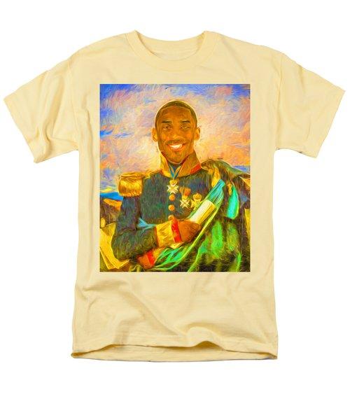 Kobe Bryant Floor General Digital Painting La Lakers Men's T-Shirt  (Regular Fit) by David Haskett