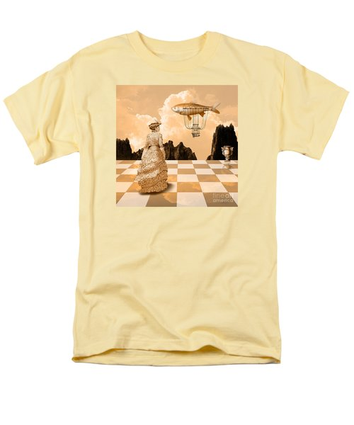 Men's T-Shirt  (Regular Fit) featuring the drawing Lady by Alexa Szlavics