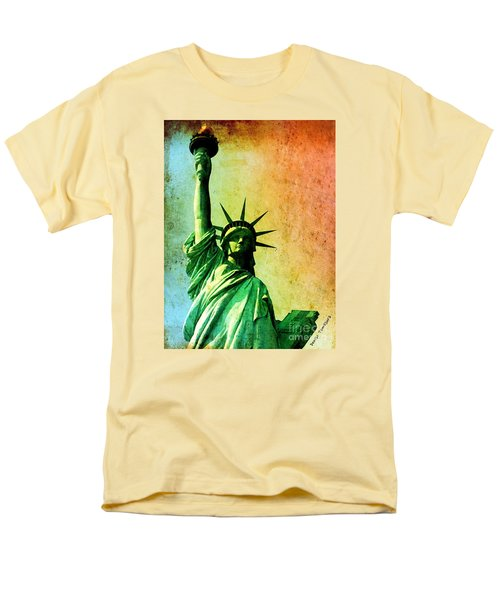 Men's T-Shirt  (Regular Fit) featuring the painting Lady Liberty by Denise Tomasura
