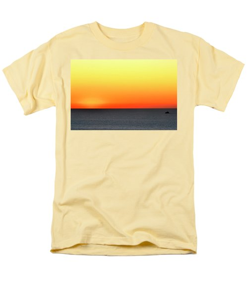 Men's T-Shirt  (Regular Fit) featuring the photograph Lake Michigan Sunrise by Zawhaus Photography