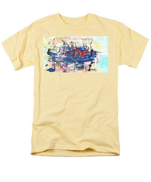 Laziness - Large Bright Pastel Abstract Art Men's T-Shirt  (Regular Fit) by Modern Art Prints