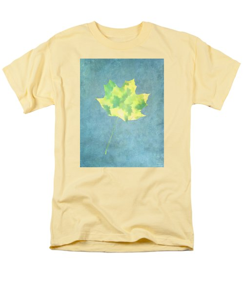 Men's T-Shirt  (Regular Fit) featuring the photograph Leaves Through Maple Leaf On Texture 1 by Gary Slawsky