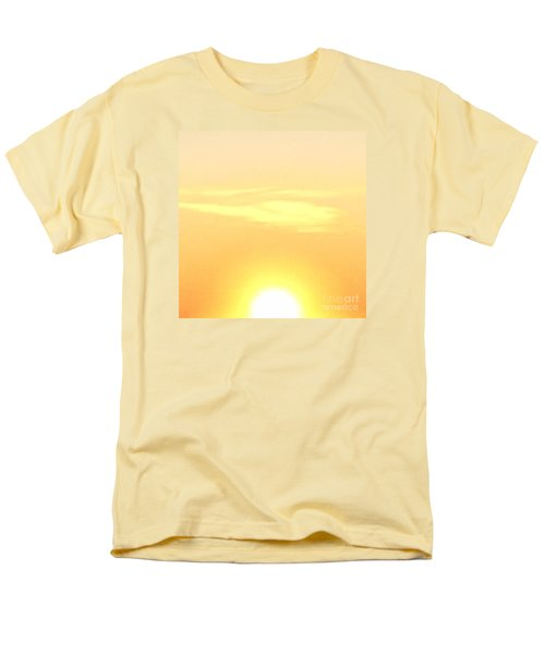 Lemon Meringue Sky Men's T-Shirt  (Regular Fit) by Patricia E Sundik