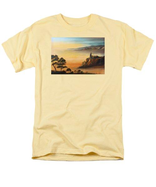 Lighthouse At Sunset Men's T-Shirt  (Regular Fit)