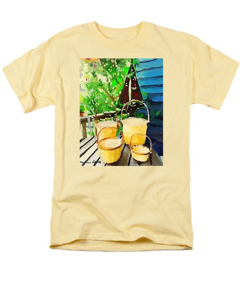 Lightship Baskets And Old Sailboat Windvane Men's T-Shirt  (Regular Fit) by Melissa Abbott