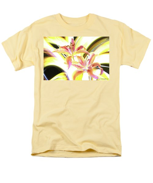Lily Burst Men's T-Shirt  (Regular Fit) by Andrew Nourse