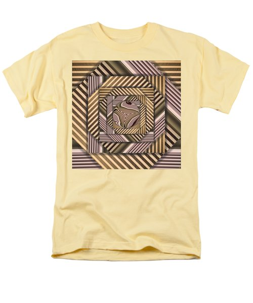 Men's T-Shirt  (Regular Fit) featuring the digital art Line Geometry by Ron Bissett