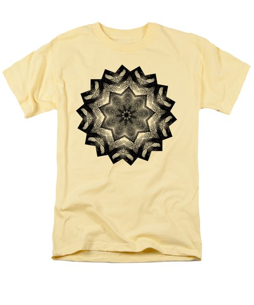 Lines In A Star By Kaye Menner Men's T-Shirt  (Regular Fit) by Kaye Menner