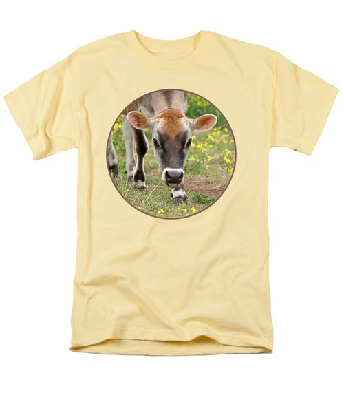 Look Into My Eyes - Jersey Cow - Square Men's T-Shirt  (Regular Fit) by Gill Billington