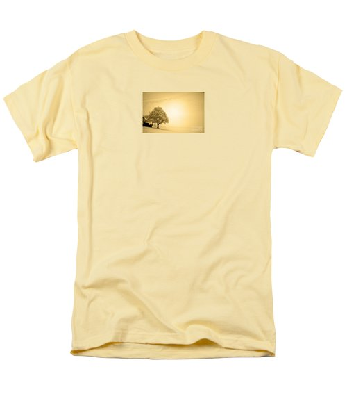 Men's T-Shirt  (Regular Fit) featuring the photograph Lost In Snow - Winter In Switzerland by Susanne Van Hulst