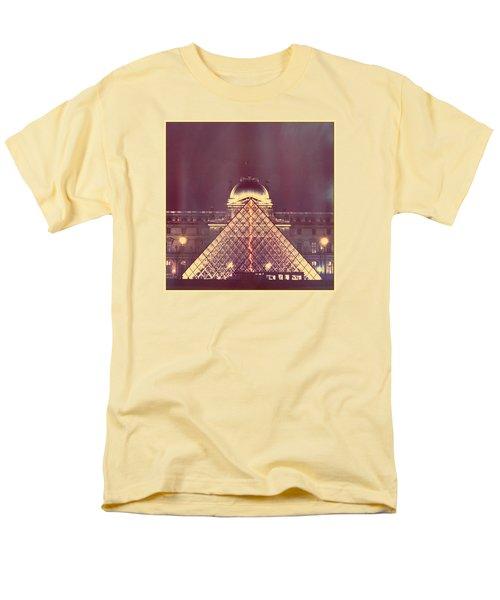 Louvre Palace And Pyramid Men's T-Shirt  (Regular Fit) by Aurella FollowMyFrench