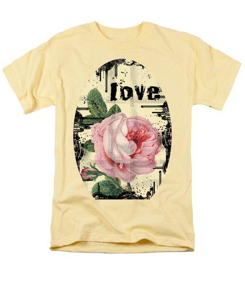 Love Grunge Rose Men's T-Shirt  (Regular Fit) by Robert G Kernodle